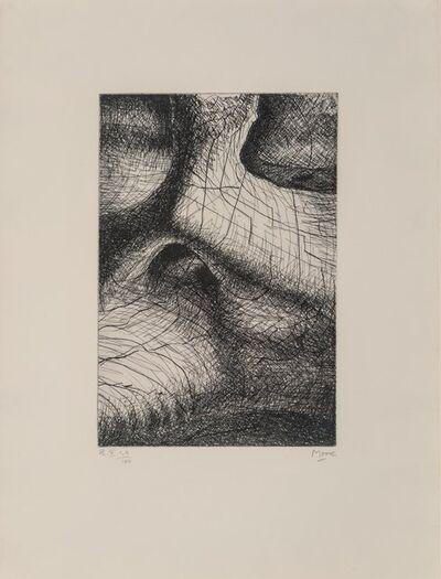 Henry Moore, 'Reclining Figure I, and Elephant Skull Pl. II, IV, VIII, X, and XVIII (six works)', 1970
