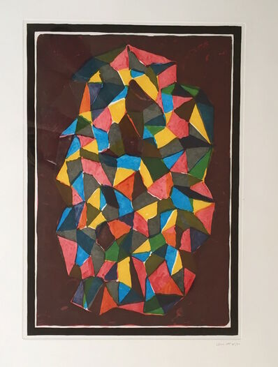 Sol LeWitt, 'Complex Forms, (red) ', 1989