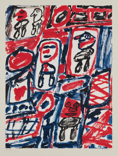 Jean Dubuffet, 'Site avec five personnages (Site with Five Characters)', 1981
