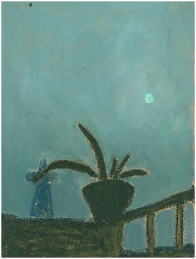Li Shan  李珊 (b. 1957), 'A Tower under the Moonlight 月光下的塔', 1975