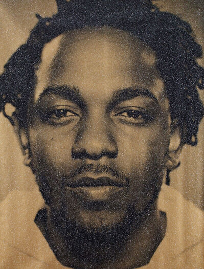 Russell Young, 'Kendrick Lamar (Tempest Gold)', 2018