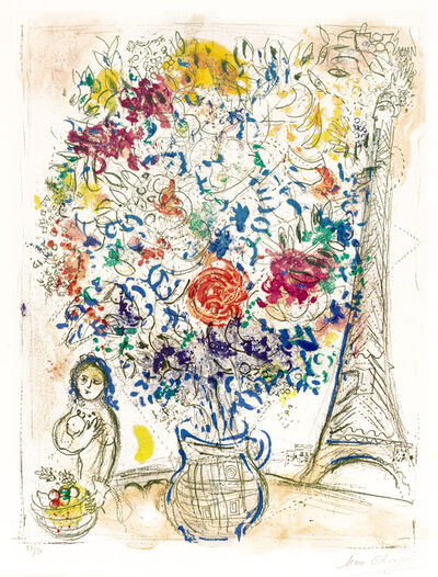 Marc Chagall, 'Bouquet à la Tour Eiffel (Bouquet with Eiffel Tower)', 1958
