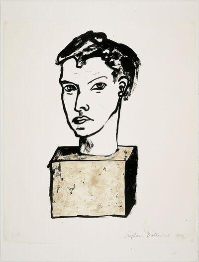 "Stephan Balkenhol, 'Untitled (from the portfolio ""The Frozen Leopard"" II)', 1992"