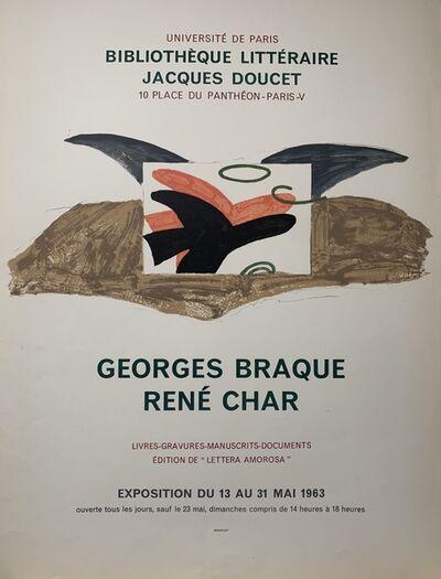 Georges Braque, 'Bibliotheque Litteraire Poster', 1963