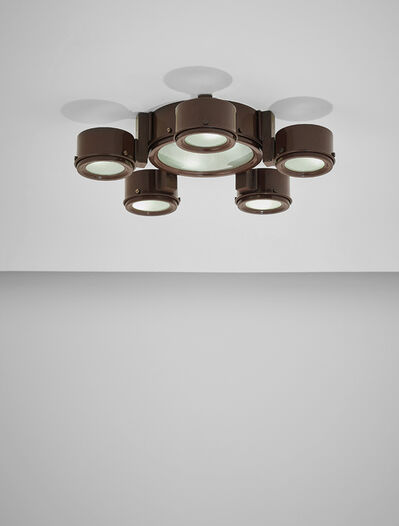 Studio BBPR, 'Rare ceiling light, model no. 2045, with one 3055/25 and five 3055/12 shades', ca. 1962