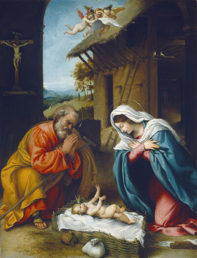 Lorenzo Lotto, 'The Nativity', 1523