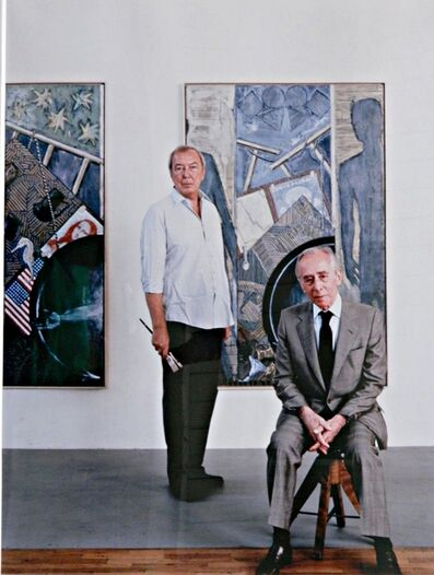 Hans Namuth, 'Jasper Johns and Leo Castelli ', ca. 1985