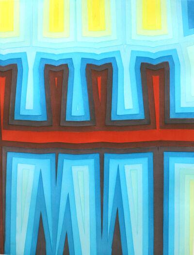 Tauba Auerbach, 'Fold/Slice Topo 1', 2011