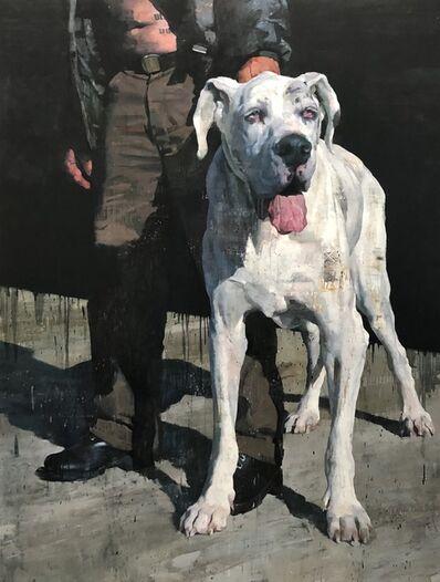 François Bard, 'White Dog', 2018
