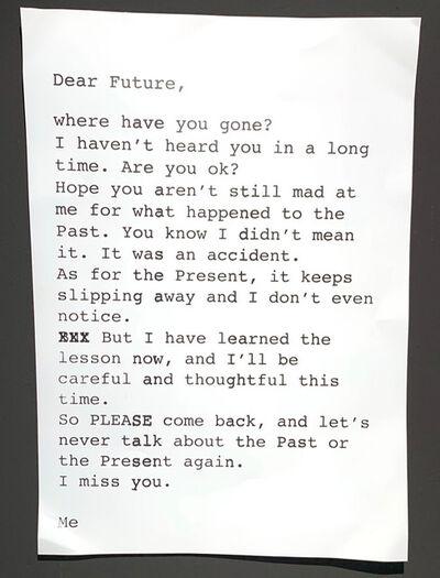 Daniele Sigalot, 'Dear Future', 2019