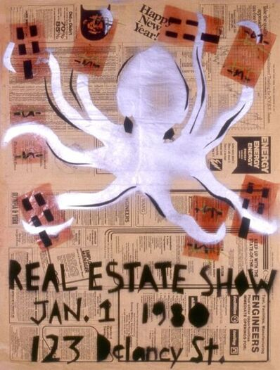 Becky Howland, 'Real Estate Show Poster (Happy New Year_ ', 1979