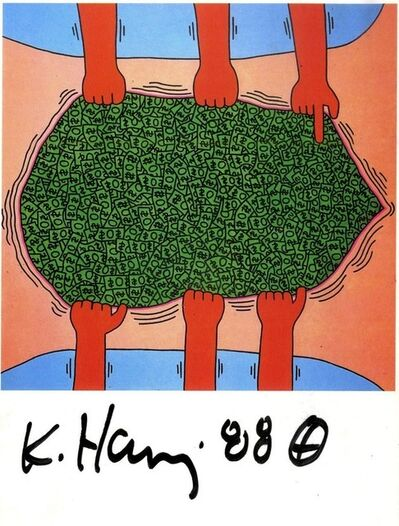 Keith Haring, 'Hand Signed Card', 1988