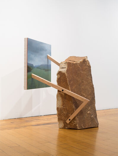 Mike Womack, 'Landscape Painting 3 (Rock)', 2018