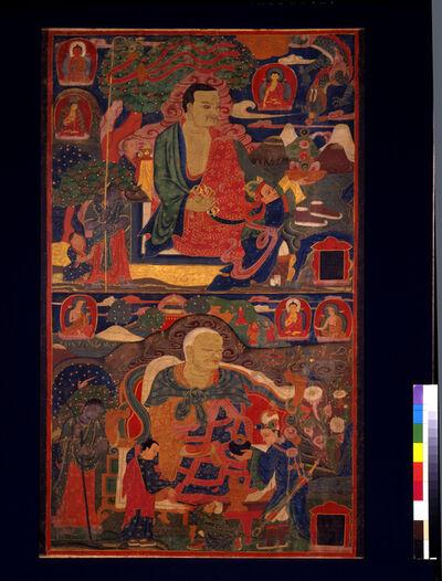 'Arhats Pindola Bharadvaja and Chudapanthaka', 14th century