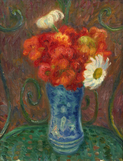 William James Glackens, 'Flowers on a Garden Chair', ca. 1930