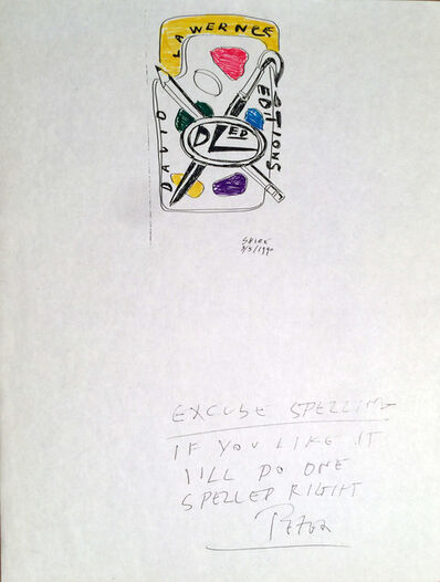 Peter Shire, 'David Lawrence Editions Logo Design, Cover Letter Original Drawing by Peter Shire', 1990