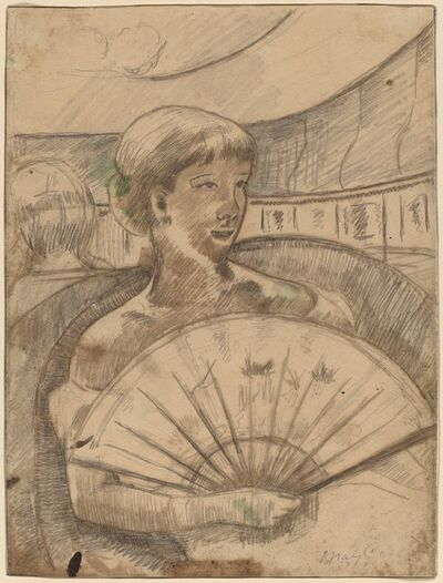 Mary Cassatt, 'In the Opera Box (No. 3) [recto]', 1880