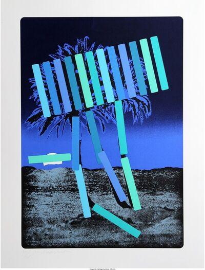 Menashe Kadishman, 'Blue Palm', circa 1979