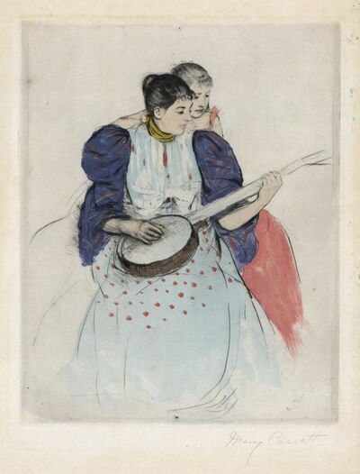 Mary Cassatt, 'The Banjo Lesson.', 1894