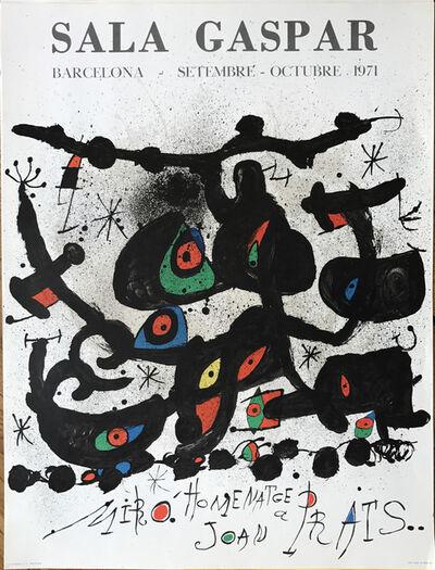 """Joan Miró, 'Affiche pour l' exposition """"Homenatge a Joan Prats"""". Sala Gaspar, Barcelona. ', 1971"""