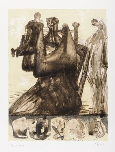 Henry Moore, 'Mother and Child with Border Design (Cramer 433)', 1976