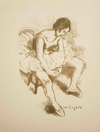 Moses Soyer, 'Seated Dancer', ca. 1968