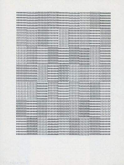 Carl Andre, 'eeeeeeeAAAAAAAdddddddWWWWWWWeeeeeeeAAAAAAArrrrrrrDDDDDDDmmmmmmm', 1972