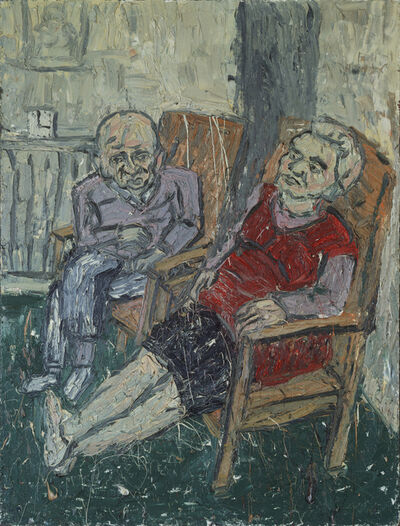 Leon Kossoff, 'Two Seated Figures No. 2', 1980
