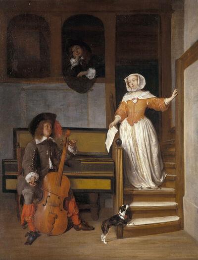 Gabriel Metsu, 'The Cello Player', 1658
