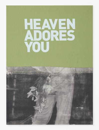 Walter Dahn, 'Untitled (Heaven adores you)', 2016