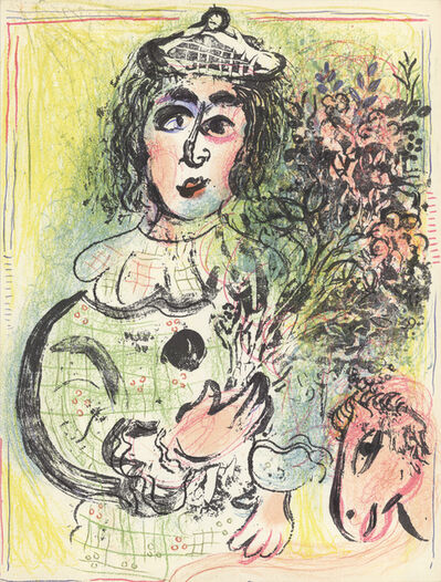 Marc Chagall, 'Clown with Flowers', 1963
