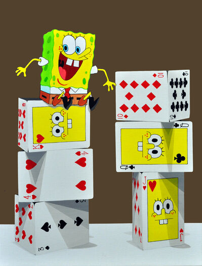 Byungtaek Jeon, 'The tower of card - Sponge Bob'