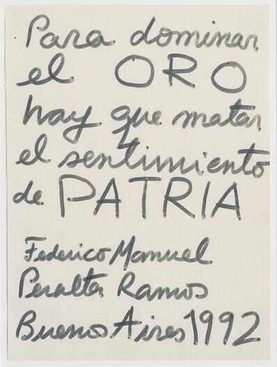 Federico Manuel Peralta Ramos, 'Sin título', 1992