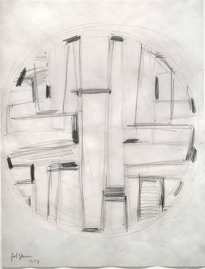 Fritz Glarner, 'Study for Tondo', 1954