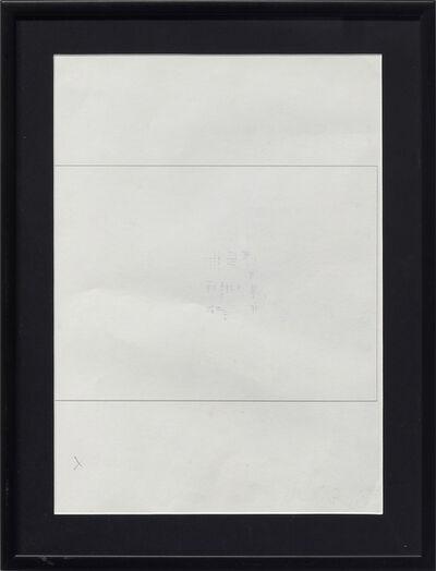 Emilio PRINI, 'Untitled (Formula per tipi standard non standard)', 1967-1990