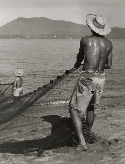 Manuel Carrillo, 'Untitled (Two Fishermen Pulling Net out of Ocean)', ca. c. 1950s/60s
