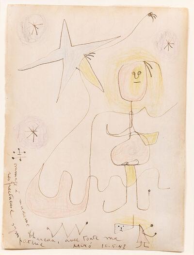 Joan Miró, 'Hommage à Madame Chareau', 1947