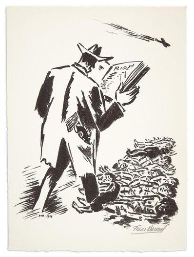 Frans Masereel, 'UNTITLED (MAN READING)', 1968