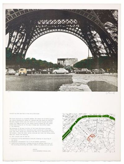 Christo and Jeanne-Claude, 'The wrapping of the Ecole militaire', 1970