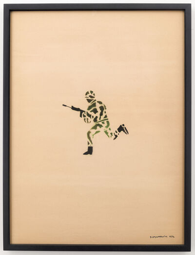 David Wojnarowicz, 'Untitled (Running Soldier in Camouflage)', 1982