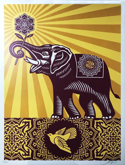 Shepard Fairey, 'Holiday Peace Elephant', 2015