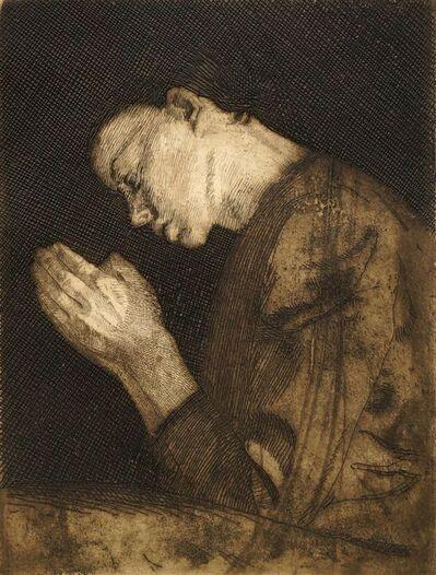 Käthe Kollwitz, 'Betendes Madchen (Praying Girl)', 1892