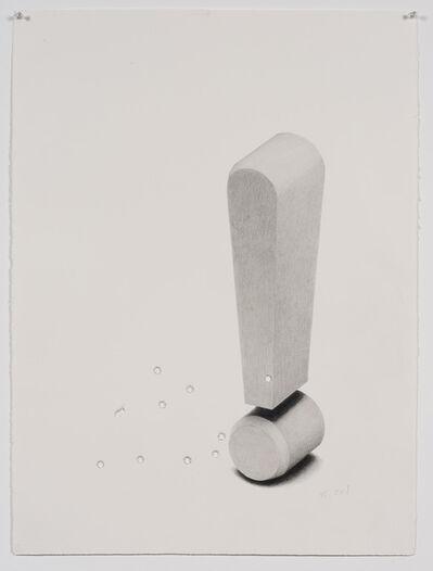 Karl Haendel, 'Exclamation Point w/ Bullet Holes #2 (.45 Cal)', 2011
