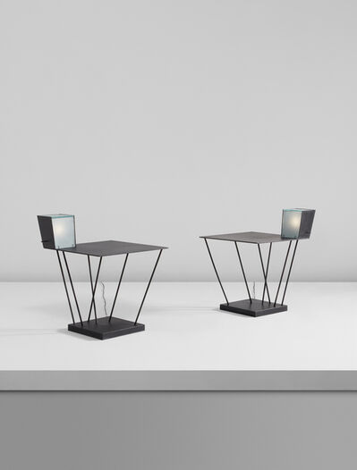 Steven Holl, 'Pair of side tables with integrated lamps, from Museum Tower, New York', 1986-1987