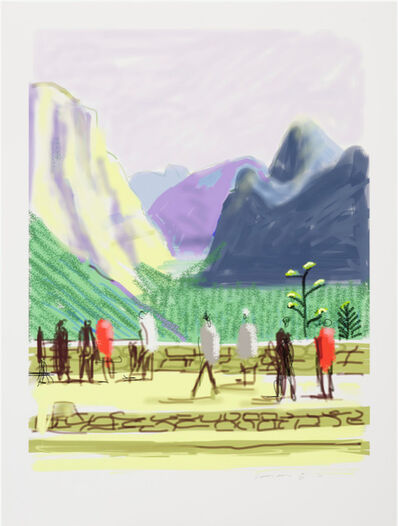 David Hockney, 'The Yosemite Suite No.15', 2010