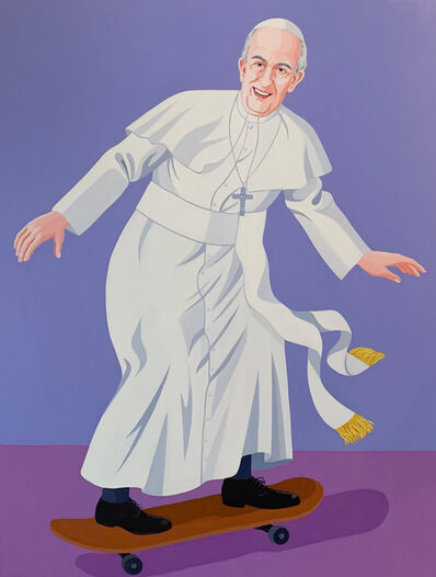Giuseppe Veneziano, 'Skating Pope', 2019