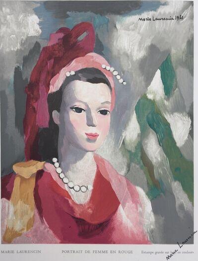 Marie Laurencin, 'Portrait de Femme en rouge', 1950
