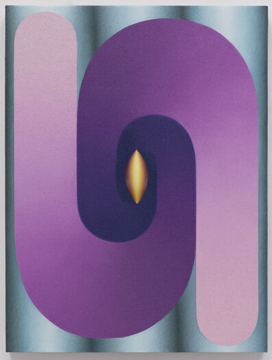 Loie Hollowell, 'Linked Lingam (purple, teal, yellow)', 2018