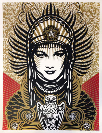 Shepard Fairey (OBEY), 'Peace Goddess ', 2008
