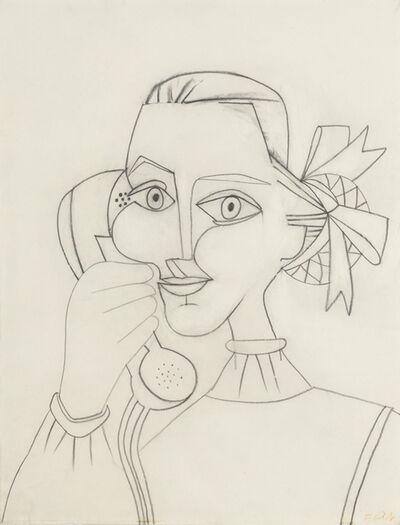 Françoise Gilot, 'Femme au Telephone (Autoportrait)', 1952